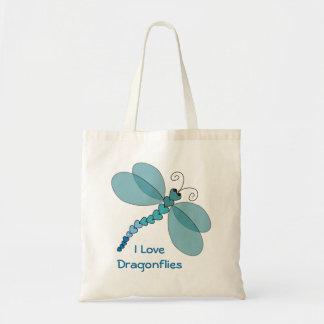 Amo la bolsa de asas de las libélulas