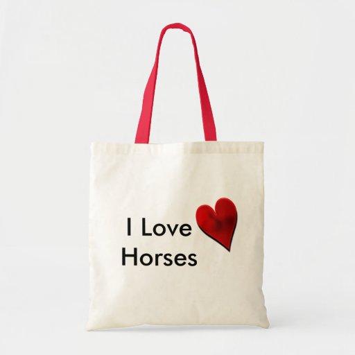 Amo la bolsa de asas de los caballos