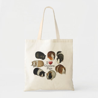 Amo la bolsa de asas de los conejillos de Indias