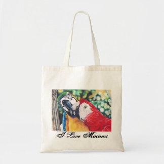 Amo la bolsa de asas de los macaws