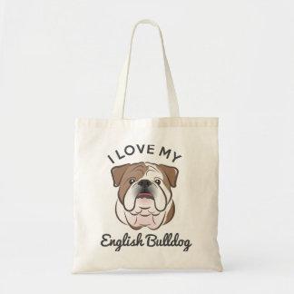 """""""Amo la bolsa de asas de mi dogo inglés"""""""