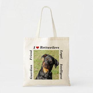 Amo la bolsa de asas de Rottweilers