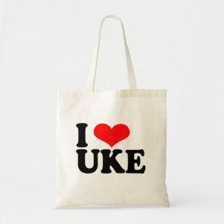 Amo la bolsa de asas del Ukulele de Uke