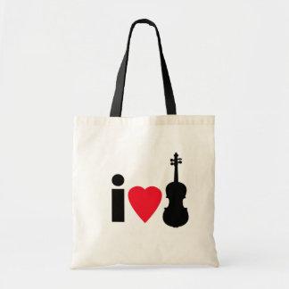Amo la bolsa de asas del violín