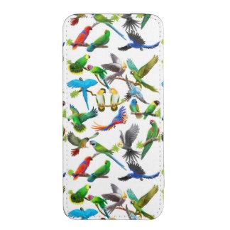 Amo la bolsa elegante del teléfono de los loros funda acolchada para iPhone