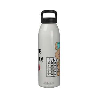Amo la botella de agua de la libertad del bingo