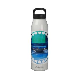 Amo la botella de agua de las orcas