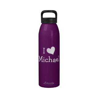 Amo la botella de la libertad de Michael Botellas De Agua Reutilizables