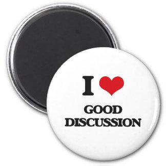 Amo la buena discusión imanes de nevera