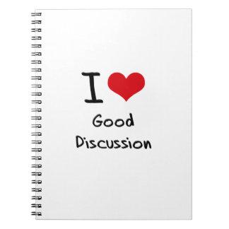 Amo la buena discusión cuadernos