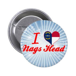 Amo la cabeza de las quejas, Carolina del Norte Pin