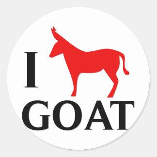 Amo la cabra pegatina redonda