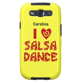 Amo la caja conocida personalizada danza de Samsun Galaxy S3 Protector