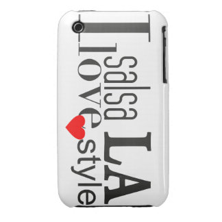 Amo la caja de Blackberry del LA de la salsa iPhone 3 Case-Mate Protector