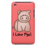 Amo la caja de iPod de los cerdos iPod Case-Mate Cárcasa