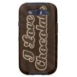 Amo la caja de la galaxia de Samsung del chocolate Galaxy S3 Funda