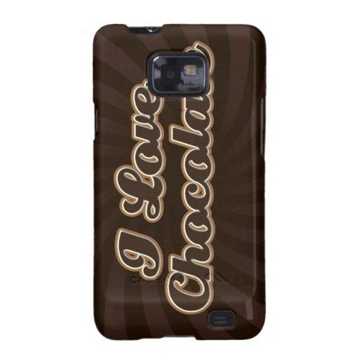 Amo la caja de la galaxia de Samsung del chocolate Galaxy S2 Fundas