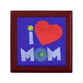 amo la caja de regalo de la mamá joyero cuadrado pequeño
