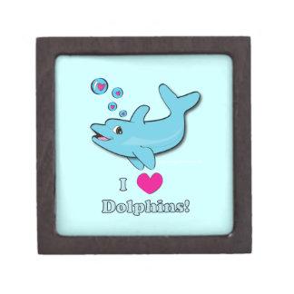 Amo la caja de regalo de los delfínes cajas de joyas de calidad