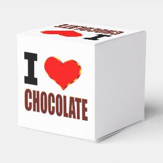 Amo la caja de regalo del chocolate con el corazón cajas para regalos de boda