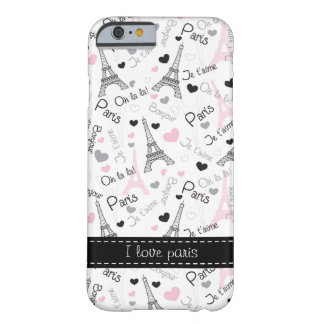 Amo la caja del teléfono del caso del iPhone 6 de Funda De iPhone 6 Barely There