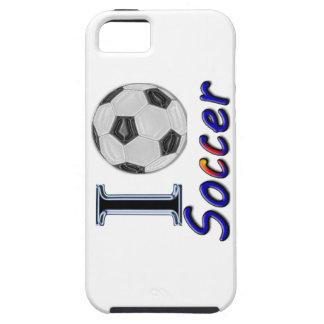 Amo la caja del teléfono del fútbol iPhone 5 fundas