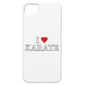 Amo la caja del teléfono del karate iPhone 5 carcasa
