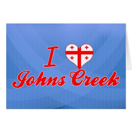 Amo la cala de Johns, Georgia Tarjeta De Felicitación