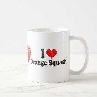 Amo la calabaza anaranjada tazas de café