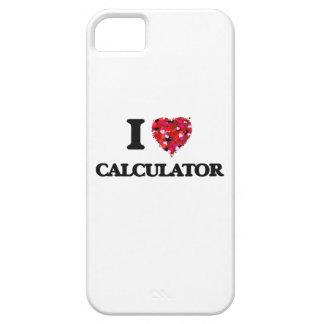 Amo la calculadora iPhone 5 fundas