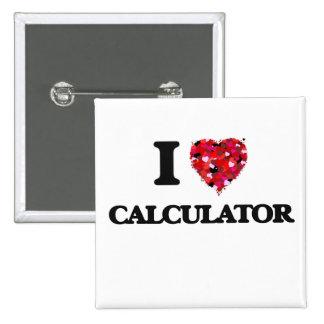 Amo la calculadora pin cuadrada 5 cm