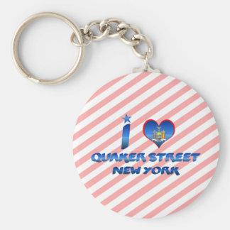 Amo la calle del Quaker, Nueva York Llavero