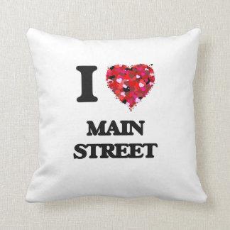 Amo la calle principal almohada