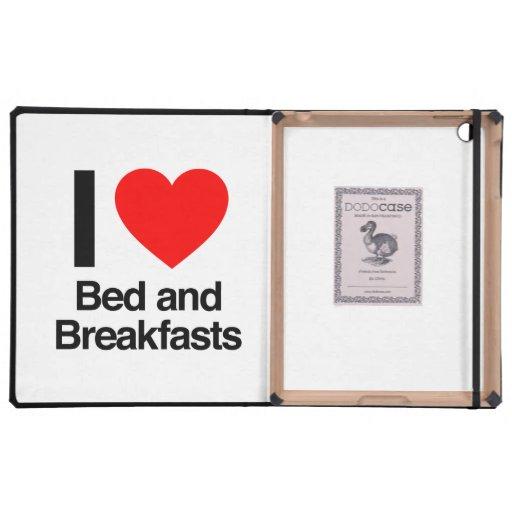 amo la cama - y - los desayunos iPad cárcasas