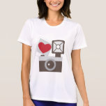 Amo la cámara del vintage camisetas