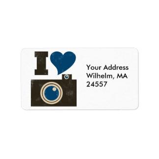 Amo la cámara etiquetas de dirección