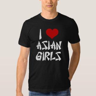 Amo la camisa asiática de los chicas