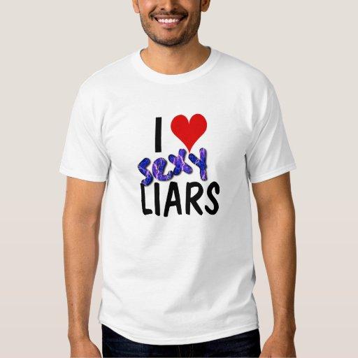 Amo la camisa atractiva de los mentirosos