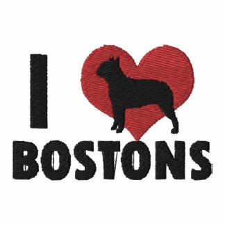 Amo la camisa bordada Bostons (la camiseta)