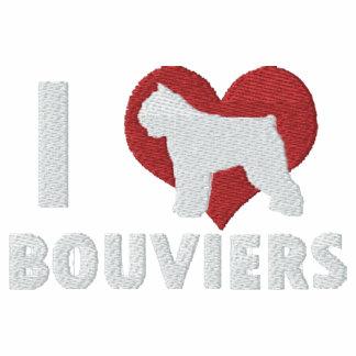Amo la camisa bordada Bouviers (la manga larga)