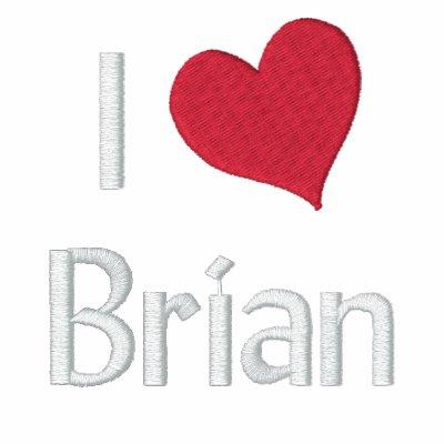 Amo la camisa bordada Brian