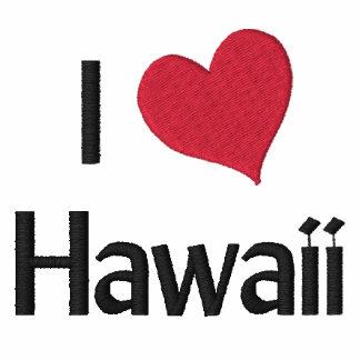 Amo la camisa bordada Hawaii