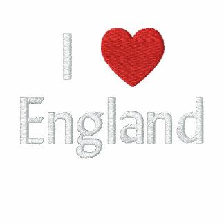 Amo la camisa bordada Inglaterra Sudadera Encapuchada