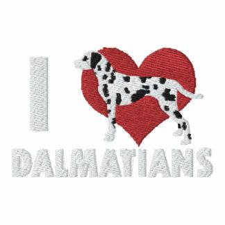 Amo la camisa bordada los Dalmatians (el polo) Polo Enbordado
