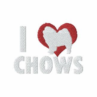 Amo la camisa bordada los perros chinos (la camise