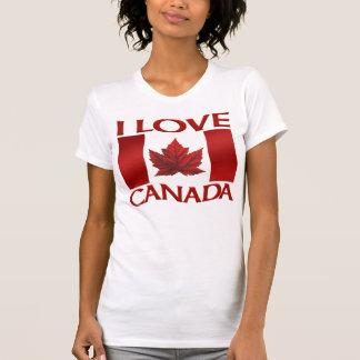 Amo la camisa de Canadá de las mujeres de las