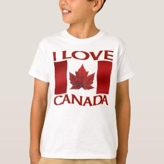 Amo la camisa de Canadá del recuerdo del niño de