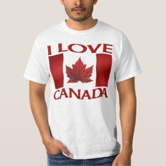 Amo la camisa de Canadá del recuerdo del valor de