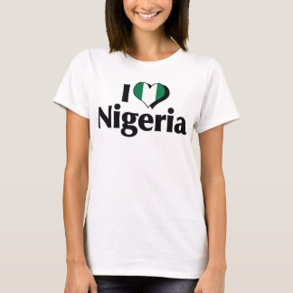 Amo la camisa de la bandera de Nigeria