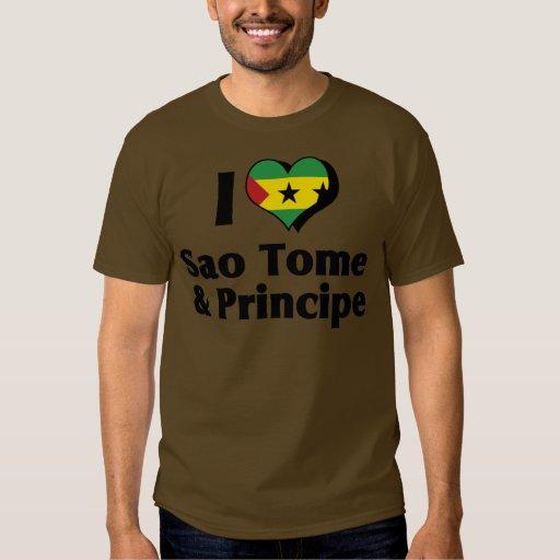 Amo la camisa de la bandera de Sao Tome and